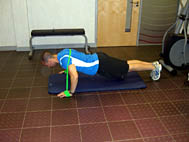 Press Up - band around shoulders